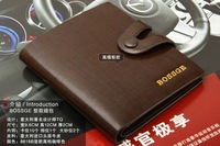 Free to send a short paragraph leather men's wallet leather wallet first layer of high-end cross-section wallet wallet