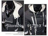 Dark Gray 2013 High Quality New Fashion Men's Assassin's Creed Costume Slim Hoodie Coat Jacket Hoody Assassins Creed