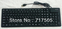 126 key Russian silicone keyboard, waterproof + silent + soft + folding