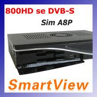 1pc dm 800HD se with Original SIM A8P Security Card Linux TV API receiver dm800se DVB-S satellite receiver free shipping