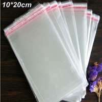 Wholesale 500Pcs/Lot 20cm*10cm Clear Self Adhesive Seal Plastic OPP Poly Bag, Packaging Packing Package Bag