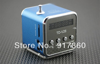 Best price portable mini USB speaker support micro sd TF card with FM radio/gifts speakers,freeshipping!