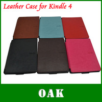 Free Shipping - High Quality PU Leather Case Shell for Amazon Kindle 4/5 ebook - Dropshipping