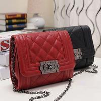 2014 Small Plaid Bag For Mujer Sac Chain Lady Shoulder Female Cross Body Women PU Messenger Bolsa Femininas Bolso Crossbody S206