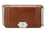 Wax PU leather 2013 TMC  Women Retro Metal Lock Lattice Fashion Messenger Chain Handbags Celebrity Elegant Shoulder Bags YL235