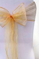 "Wholesale chair sashes Organza 7.0"" x 107.3"" Organza Chair Cover Sashes Bow Sash Wedding Banquet Party Decoration"