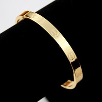 Brand New Design Love Bangle Jewelry High Quality Fashion 18K Real Gold Plated Women Cuff Bracelets Bangles Wholesale 7VH3018