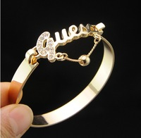 Free shipping 18K gold plated Name Brand Bangle jewelry Alloy Bracelet jewelry new design