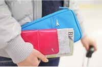 news South Korea stationery high-capacity multi-function portable travel documents package | passport holder wallet ticket clip