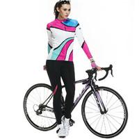 SANTIC New Women's Cycling Jersey Bike Bicycle Comfortable Long Sleeve Outdoor Shirts Jacket Top Coat