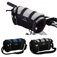 New Cycling Bike Bicycle Frame Handlebar Bar Bag Front Basket Velcro Fixed backpack shoulder bag