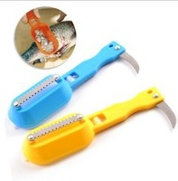 Free Shipping  Stainless Steel Fish Scale shaver Remover Cleaner Descaler Skinner Scaler knife Kitchen cooking  tools