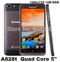5.0'' Original phones Lenovo A828T Quad Core 1GB RAM 8GB ROM 1.2GHZ 1280x720 8MP celular Android Smartphone unlocked cell mobile