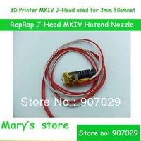 free shhipping 3D Printer RepRap J-Head MKIV MKV Hotend Nozzle 0.4mm nozzle 3mm filamnet