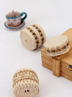 Quality knitted hemp rope decoration ribbon homemade diy twiner bag webbing zakka  cord braided rope  5 yards / lot