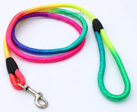 "Rainbow Nylon Dog Circular Harness Lead Collar for small dogs 48"" Lengthgs P64"