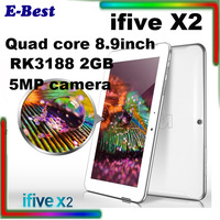 8.9'' FNF iFive X2 Quad Core RK3188 Tablet PC 2GB RAM 16GB ROM Retina IPS Screen 5MP dual camera Bluetooth HDMI 7000mAh