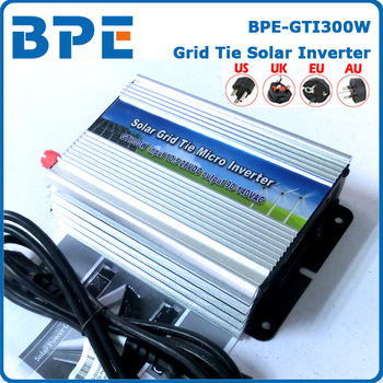 Free Shipping, 300W DC10.5~28V Solar Power Grid Tie Inverter for Grid Tie System, Grid Tie Micro Inverter