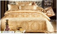 Export quality tencel silk cotton bedding set embroidered king queen size bed set duvet cover