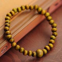 Tibetan Chunky Chain 6mm Green / Red Sandalwood Wooden Buddha Bracelets Men and Women Religion Charm Dropshipp