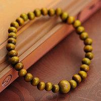 Tibetan Chunky Chain 6mm Green / Red Sandalwood Wooden Buddha Bracelets Men and Women Religion Charm Dropshipping Wholesale