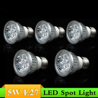 20PCS 3W 5W E27 Led spotlight White/Warm white led downlight Non-Dimmable Spot light lamp bulb High Brightness Home lighting