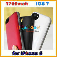 Juice Backup Battery Case  for iPhone 5 Charger Case 1700mah Full Capacity  Compatible IOS 7 Free DHL!10pcs/lot