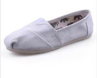 Mix color Unisex Men Women Grey Classic Canvas Shoes, Plain Casual Sneakers