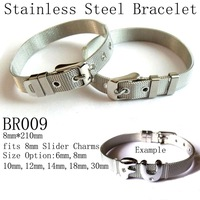 8mm*210mm Fashion Stainless Steel Bracelet,Vintage DIY Bracelet,fits 8mm Charms Beads,Free Shipping Wholesale 200pcs/lot