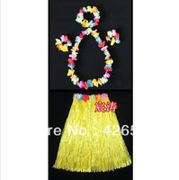 2013 New 190g halloween performance wear hawaii hula skirt length 80 five pieces set free shipping