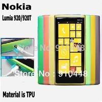 Free shipping 2pieces/lot Transparent TPU Silicon Soft Case Cover For Nokia Lumia 920 Lumia920 N920t