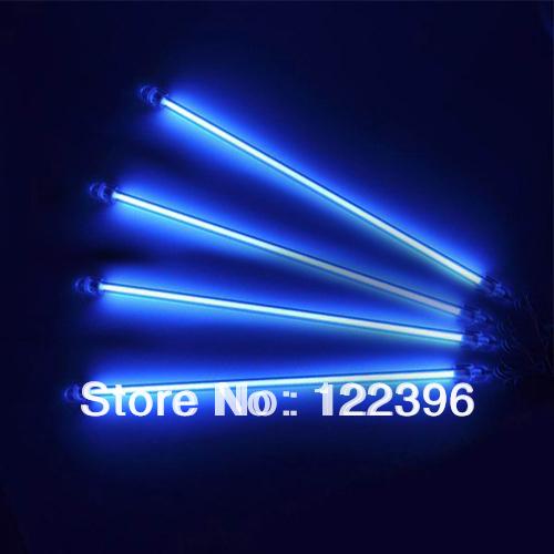 "4PCS 12"" Car CCFL Cold Cathode Interior Exterior Lights Kit PC Blue Neon Light Free Shipping(China (Mainland))"