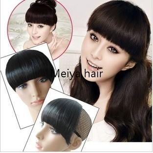 Natural Straight Hair with Bangs