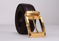 New Arrival!Fashion designer Brass buckle,100% genuine leather belt brown&fashion belts for men Free Shiping 1pcs/lot
