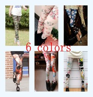 Promotion!! Fashion Graffiti Splash-Ink Printed Leggings Free Shipping Spandex Made Several styles Free Size