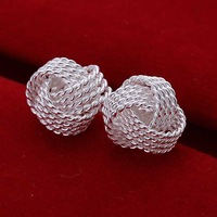 Hot Sale!!Free Shipping 925 Silver Earring,Fashion Sterling Silver Jewelry Fashion Tennis Earrings SMTE013