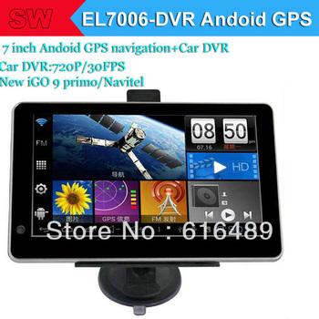 7 inch  Android 4.0 GPS Navigator+Car Camera/DVR 720P/30FPS, A13 1.2GHZ 512MB/8GB+WIFI+AV-IN Newest (IGO 9 Primo/Navitel 8.0)
