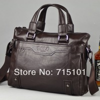 Hot 2014 New Fashion POLO PU Genuine Leather Bags For Men Brand Mens Handbags Shoulder Bag Leather Messenger Bags For Males