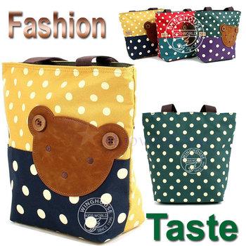 Fashion Taste High Quality Canvas Messenger Bag SchoolBag  For Children Kids Girls