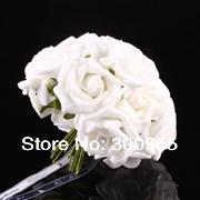 Rose Bridal Wedding Latex Real Touch Flowers Bouquets DIY Charm   KC101-108