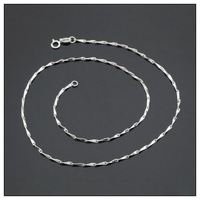 Guarantee 100% 925 Sterling Silver Jewelry Women 16inch  18inch  Chain Necklace