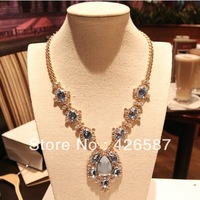luxury jewelry big drop pendant with gold filled choker collar bib chunky statement vintage necklaces 2013 fashinon celebrity