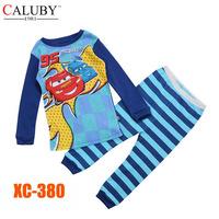 Boys Red Cars Clothing Set Kids Autumn -Summer Pajamas Sets New 2014 Wholesale Children LongSleeve Cartoon Pyjamas XC-380