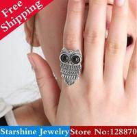 Min Order $5 Mix PL15504 owl vintage ring finger ring