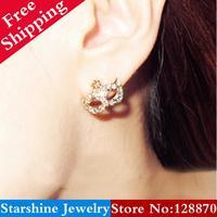 Min Order $5 Mix PL07805 super junior bohemia mask small flower earring eardrop