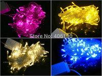 100pcs/lot 10M 100leds Christmas Lights AC 110V/220V LED Fairy Strings Decoration Lights for Party/Wedding/Hotel