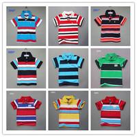 Wholesale Summer New Children's cotton shirt hot sale boys striped short-sleeved shirt brand name kids clohtes 5pcs/lot