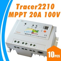 10pc lots,EPsolar Tracer2210 MPPT 20A 100V solar charge controller regulator with mppt function dual timer control