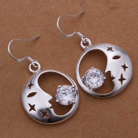 Wholesale 925 Silver Earring 925 Silver Fashion Jewelry,Insets Crescent Moon Earrings Top Quality SMTE267