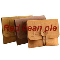 retro romantic tower suede leather wallet purse
